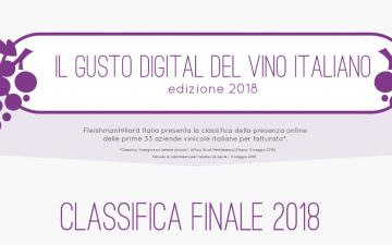 Il gusto digitale del vino italiano 2018